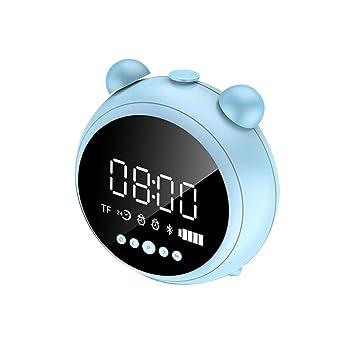ZXYWW Altavoz Inalámbrico Bluetooth, Reloj De Alarma para El ...