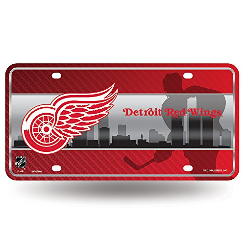 NHL Detroit Red Wings Metal License Plate Tag ()