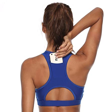 jiushixw Fitness Plug Teléfono móvil Sujetador de Yoga Azul L ...