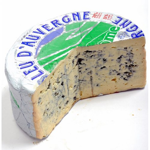 Bleu d'Auvergne Cheese (Whole Wheel) Approximately 5 Lbs by Gourmet555