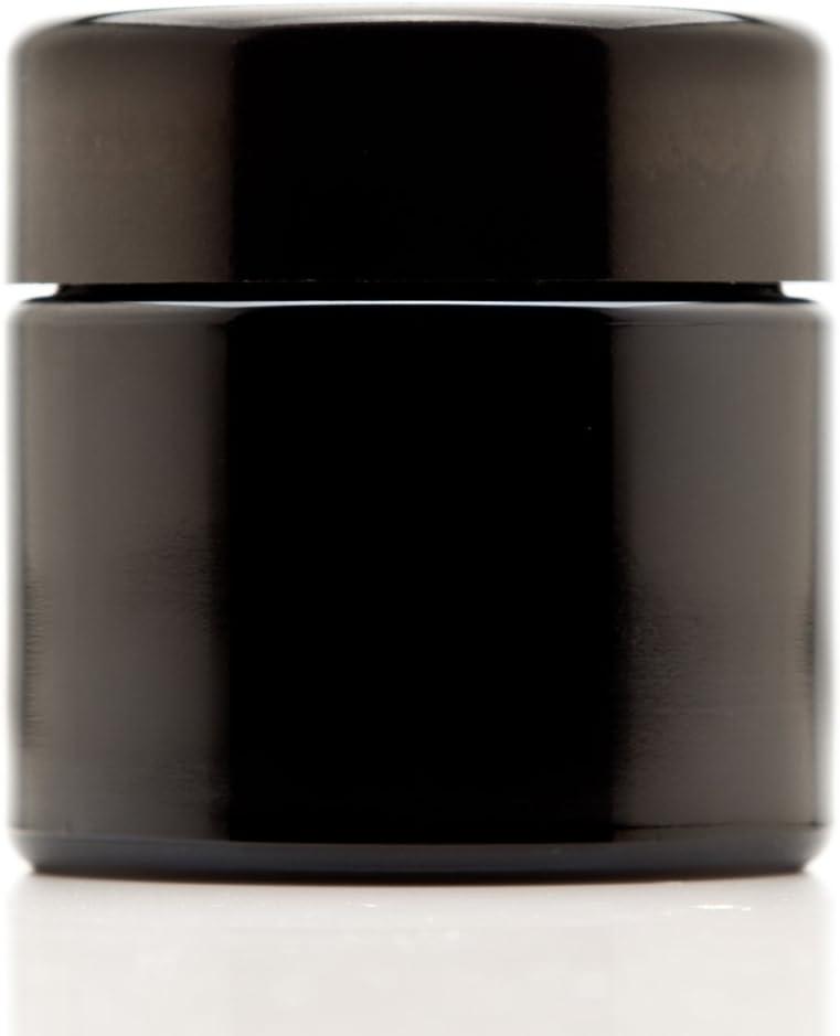 Infinity Jars 100 ml (3.3 fl oz) Black Ultraviolet Refillable Empty Glass Screw Top Jar