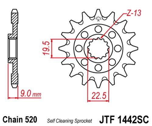 JT Sprockets JTF1442.14SC 14-Tooth Steel Front Countershaft Sprocket