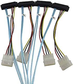 YIWENTEC Cavo Mini SAS SIRI 4i SFF-8087 Cavo seriale SAS 36 Pin a 4 Pin 29 SFF-8482 Cavo USB da 10 gbps Compatibile Maschio a Femmina Cavo con Alimentazione 1 m