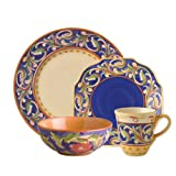 Pfaltzgraff Villa Della Luna Blue 16 Piece Dinnerware Set, Service for 4
