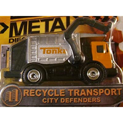Tonka Metal Diecast Bodies – City Defenders RECYCLE TRANSPORT: Toys & Games