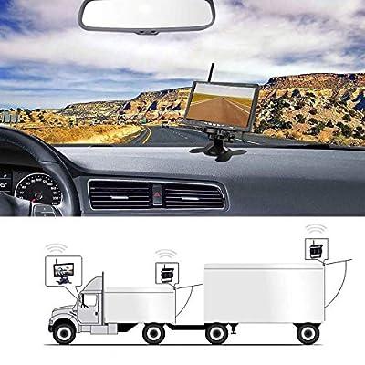 Car Backup Camera-Wireless Rear View Backup Camera For Cars HD Dual Backup Cameras And 7