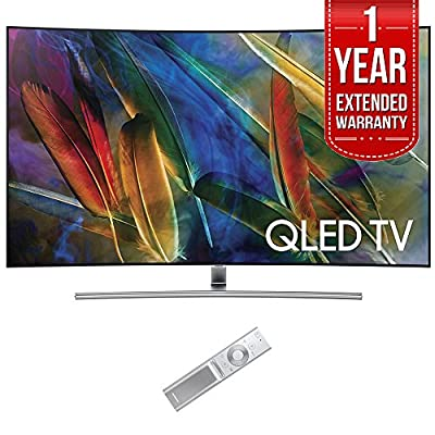 """Samsung QN55Q7C Curved 55"""" 4K Ultra HD Smart QLED TV (2017 Model) with 1 Year Extended Warranty"""