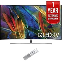 Samsung QN55Q7C Curved 55 4K Ultra HD Smart QLED TV (2017 Model) with 1 Year Extended Warranty
