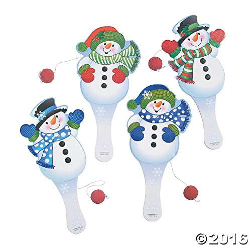 Snowman Paddle Ball Games Paddleball