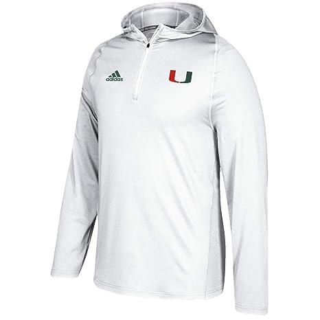 Amazon.com   adidas Miami Hurricanes NCAA Men s White Sideline 1 4 ... b54930ace