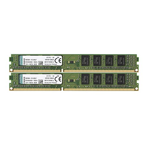 (Kingston ValueRAM 8GB Kit (2x4GB) 1600MHz DDR3 Non - ECC CL11 DIMM SR x8 Desktop Memory KVR16N11S8K2/8)