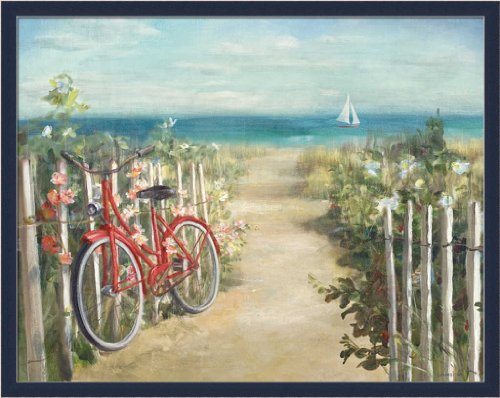 Summer Ride by Danhui Nai Bicycle by the Sea 29.5x23.5 Frame