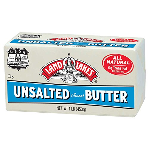 Land O Lakes Solid Unsalted Butter, 1 Pound -- 36 per case. by Land O Lakes