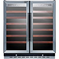 Summit SWC3066 Wine Chiller Beverage Refrigerator, Glass/Black