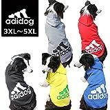 中型犬用【adidog】【アディドッグ】犬用 パーカー 犬服 ドッグウェア サイズ 3XL / 4XL / 5XL 5カラー 3XL,レッド