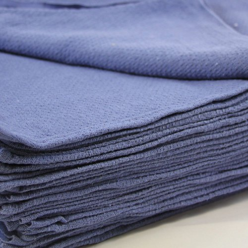 50 New Blue Glass Cleaning Shop Towels Blue Huck Surgical Detailing Glass Towels