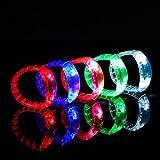 Ezerbery 15 pcs LED Light Up Flashing Wristbands Multicolor Bracelet Parties Birthdays Events Bracelet
