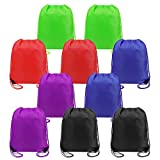 Drawstring Bags Bulk for Kids Boys Girls Party Favors Bags Gym Drawstring Backpacks Cinch Bags 10 Pack