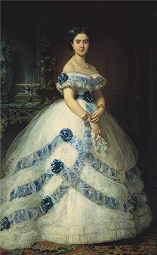 The High Quality Polyster Canvas Of Oil Painting 'Madrazo Y Kuntz Federico De The Duchess Of Castro Enriquez 1862 ' ,size: 16 X 26 Inch / 41 X 66 Cm ,this Amazing Art Decorative Prints On Canvas Is Fit For Garage Decor And Home Gallery Art And Gifts