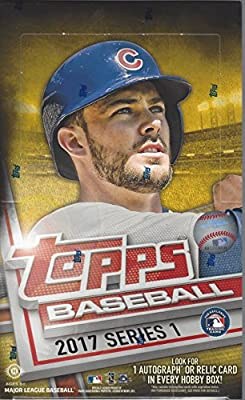 2017 Topps Series 1 Baseball Cards Hobby Box (36 Packs of 10 Cards, Inserts, Possible Autographs or Relics)