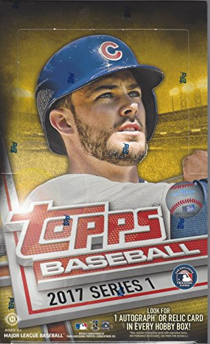Inserts Topps Baseball - 2017 Topps Series 1 Baseball Cards Hobby Box (36 Packs of 10 Cards, Inserts, Possible Autographs or Relics)