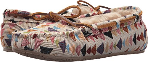 Minnetonka Women's Woven Gina Trapper Cream Kaleidoscope Print 5 M US ()