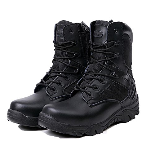 Combate Otoño Botines Ejército Botas Invierno Coolgoing Zapatos Militares Aire Hombre Libre Nieve eu4243 Del Genuino Hombres Desierto Black Trekking Alto Nshx De Cuero Al 6qOtw