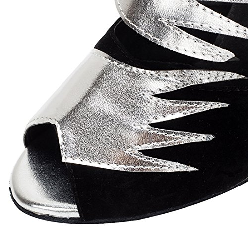 8 de 5cm Heel HW180513 Black Salon MiyooparkUK Miyoopark Silver Danse Femme T8zOvtwq