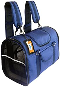 Natuvalle 6-in-1 Pet Carrier Backpack, Large, 21 x 11 x 15-Inch, Navy Blue