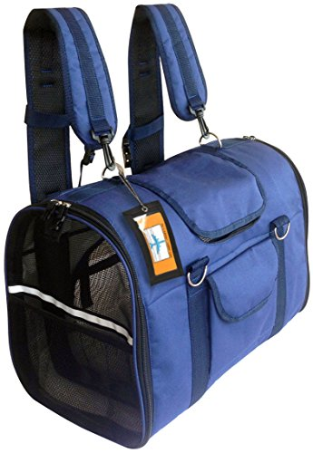 6-in1, STURDY Airline approved Dog Carrier Backpack, Front Pack, Pet Car Seat Crate, Cat carriers, Dog Soft-Sided Small Animal Carrier, Deluxe, Comfortable, Size S & M Easily fits under airplane - Rolling Dog Carriers