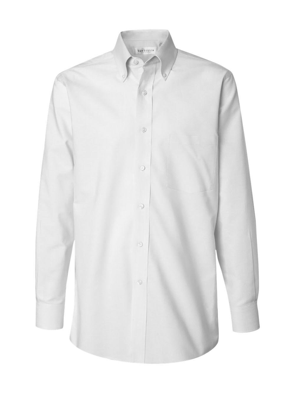 Van Heusen 56900 Men'S Wrinkle-Resistant Blended Pinpoint Oxford - White - 3Xl