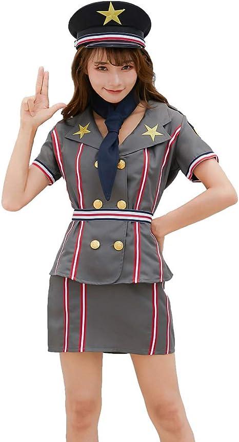 HJG Disfraz de policía Sexy Vestido de Mujer policía Juego de ...