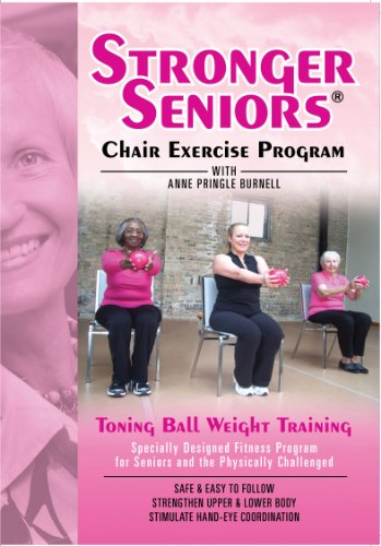 Pringles Light - Stronger Seniors: Light-Weight Toning Ball DVD - Enhance Upper and Lower Body Strength and Endurance. Core Strength and hand-eye coordination also improved with this fun chair exercise program from Anne Pringle Burnell