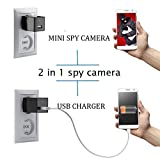 Mini Nanny Camera Plug - 1080P Wall Charger for Pet Baby Monitor, Home Security Camera Motion Detection Indoor Camera with 8 storage