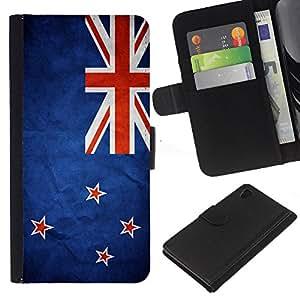 """Be-Star la tarjeta de Cr¨¦dito Slots PU Funda de cuero Monedero caso cubierta de piel Para Sony Xperia Z3 Plus / Z3+ / Sony E6553 (Not Z3) ( Bandera nacional de la Serie-Nueva Zelanda"""" )"""
