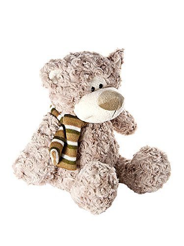 Mousehouse Gifts Super Soft Light Brown Stuffed Animal Teddy Bear Plush Toy Teddies with Scarf 14 inch