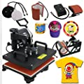 5 in 1 Dual Digital Transfer Sublimation Heat Press Machine Screenprint for T-Shirt Mug Hat
