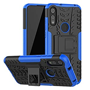 Moto E 2020 Case, Motorola E Case, SKTGSLAMY [Shockproof] Tough Rugged Dual Layer Protective Case Hybrid Kickstand Cover…