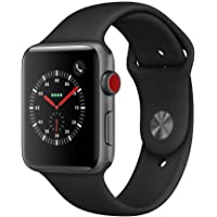 $329 » AppleWatch Series3 (GPS+Cellular, 42mm) - Space Gray Aluminium Case with Black Sport Band