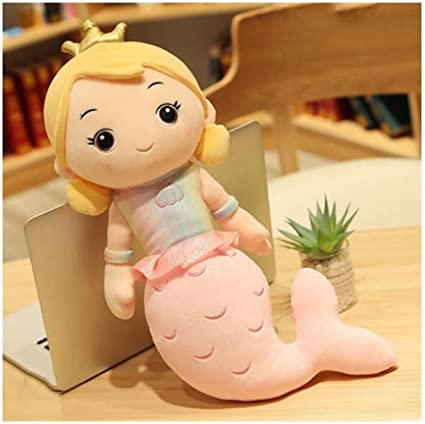 Amazon Com Poooc Beautiful Crown Mermaid Doll Soft Mermaid Princess Plush Toy Adorable Princess Image Cushion Pillow Cartoon Stuffed Little Mermaid Dolls Home Decoration Girls Girlfriend Birthday Gifts Sports Outdoors Mermaid has black eyes and crown on her head. poooc beautiful crown mermaid doll soft
