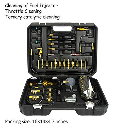 FLBETYY Automotive Non-dismantle Fuel Injector Cleaner Kit & Tester with Case for Petrol Throttle Petrol Cars with Adapter Connectors 750ML Tank by FLBETYY (Image #1)