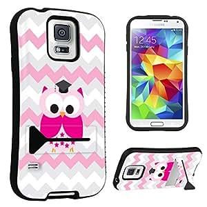 DuroCase ? Samsung Galaxy S5 Kickstand Case - (Cute Owl Pink)