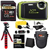 Fujifilm FinePix XP130 - Lime Green, 32GB SD Memory Card, Tripod, Case Floating Strap Accessory Bundle