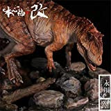 Nanmu Studio 1/35 Yangchuanosaurus Hunting Tuojiangosaurus Scene Statue Realistic Dinosaur Action Figure Resin Model GK Toys Dinosauri Collector Decor Gift for Adult (Red)