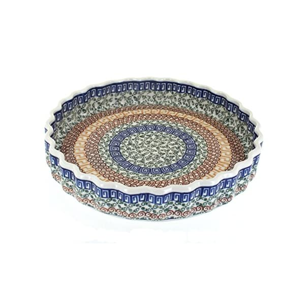 Blue Rose Polish Pottery Athena Torte Plate