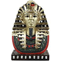Ebros Ancient Egyptian Pharaoh Mask Of King Tut Statue Golden Tutankhamun Bust Figurine