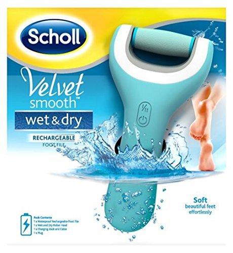 Scholl Velvet Smooth Wet & Dry Pedi Electric Hard Skin Remover by Scholl (Scholl Velvet Smooth Express Pedi Electronic Foot File)