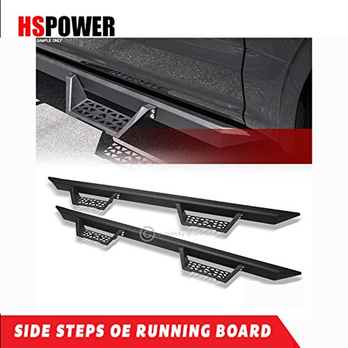 HS Power 2001-2003 for Ford F150 Backward Supercrew Crew | Matte Black Modular Drop Step Nerf Bars
