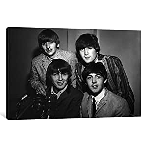 iCanvasART 1 Piece The Beatles #8 Canvas Print by Retro Images Archive, 12 x 18 x 1.5-Inch