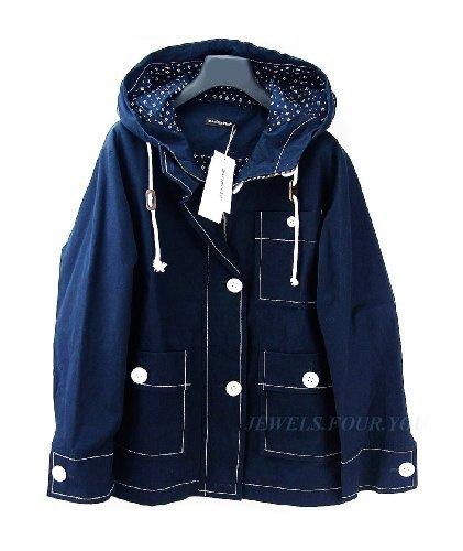 marimekko-irene-windbreaker-short-coat-jacket-navy-blue-hood-size-s-brand-new